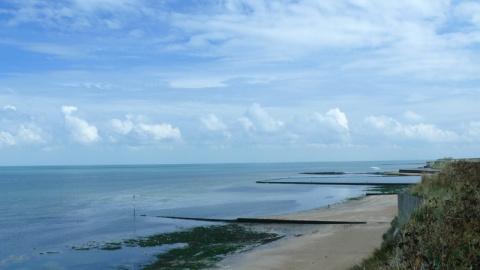 English sea. Margate, UK - British Channel