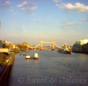 Tower Bridge. Photo taken with my camera phone in 2005 standing on London Bridge