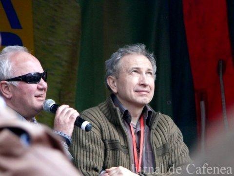 Geoarge Nicolescu cu unul din membrii fundatiei ARTHIS. Bruxelles 2010