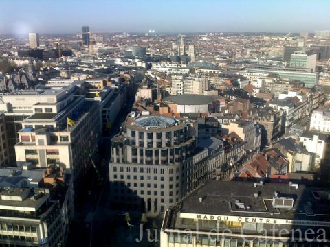 City of Brussels from 22nd floor of Madou tower west wing