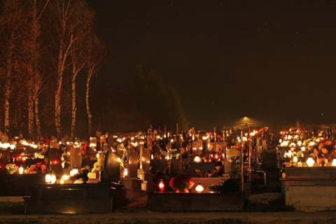 Day of the Dead.  Sucha Cemetery, Poland