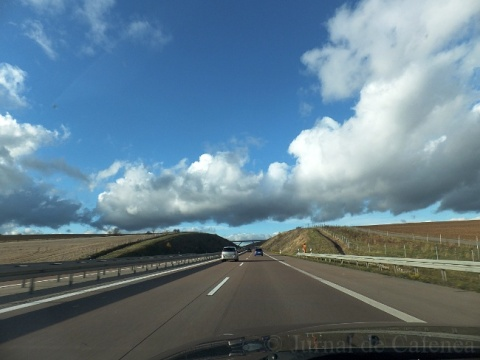 Motorway and clouds in Germany
