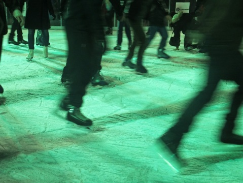 Ice skating in Brussels