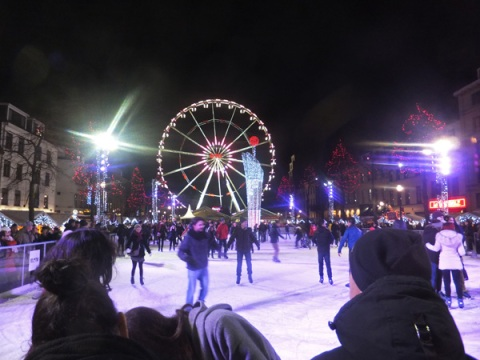 Ice skate rink Brussels