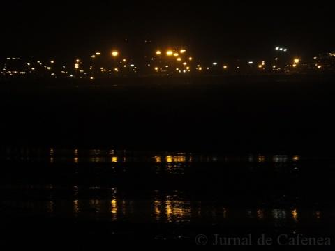 Port lights reflection