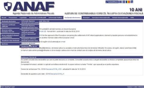 ANAF.ro - descarcare declaratii TVA 300, 309
