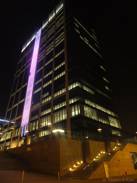 Finance Tower at Night, Brussels