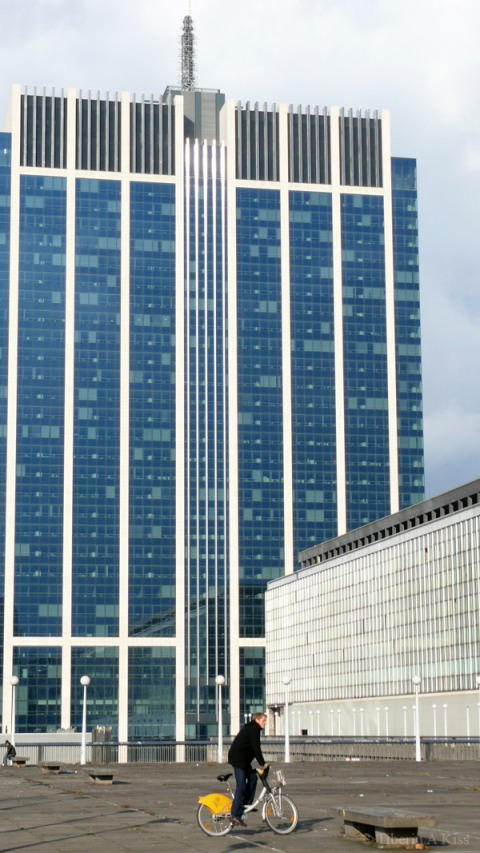 Finance Tower from Place du Congres, Brussels