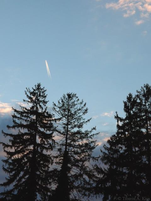 Cerul seara la Rasinari 13 Aprilie 2014