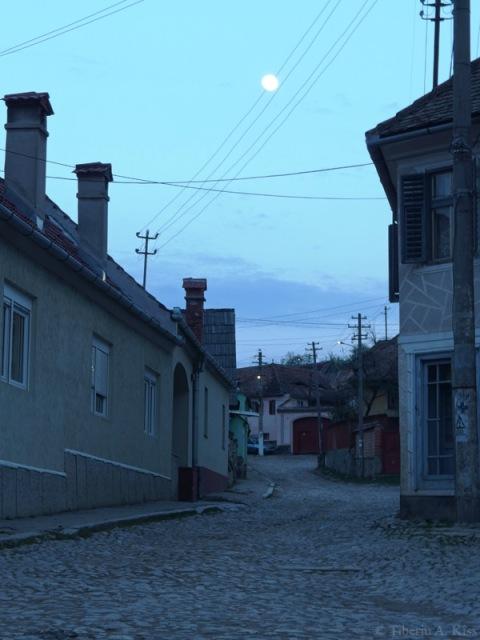 Rasarit de luna la Rasinari, 13 Aprilie 2014